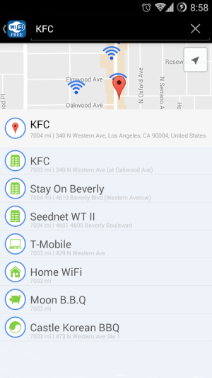 Android WiFi Free - Passwords&Hotspots Screen 1