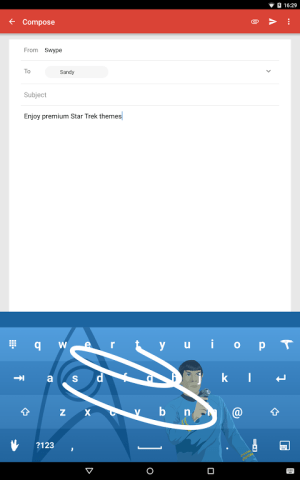 Android Swype Keyboard Screen 11