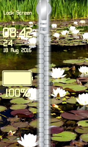 Android Lotus Zipper Lock Screen Screen 3