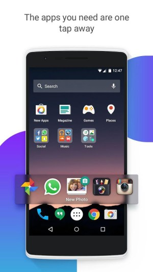 Android EverythingMe Launcher Screen 1