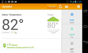 Android Thermostat Screen 1