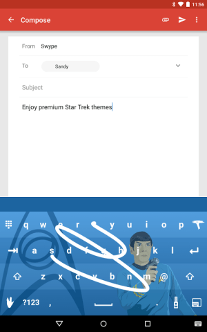 Android Swype Keyboard Screen 5
