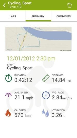 Android Endomondo Sports Tracker PRO Screen 14