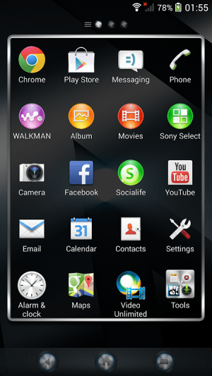 Android Xperia™ theme - Reality Screen 5