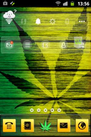 Android Weed Reggae HD GO Launcher Screen 6