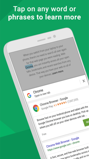 Android Chrome Browser - Google Screen 1