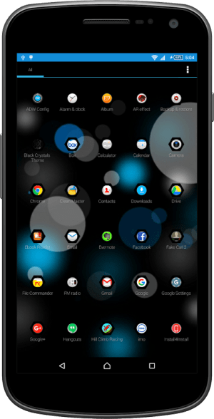 Android Black Crystal Theme & Launcher Screen 4