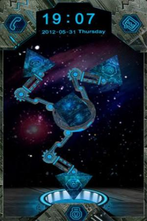 Android 3D Transformer GO Locker Theme Screen 1