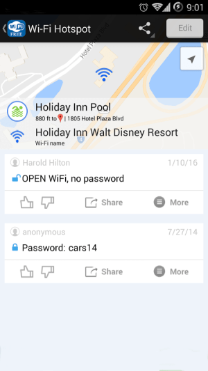 Android WiFi Free - Passwords&Hotspots Screen 4