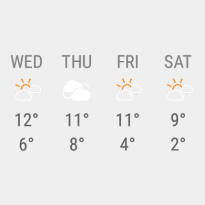 Android Transparent clock weather Pro Screen 3