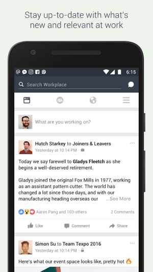 Android Workplace by Facebook Screen 2