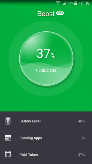 Android Booster Max Screen 3