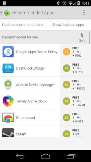 Android AppBrain App Markt Screen 1