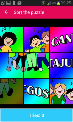 Android Cantajuegos Screen 1