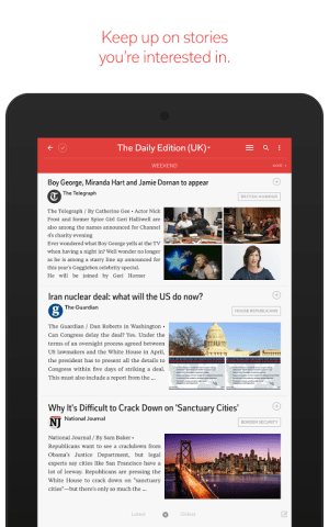 Android Flipboard: News For Any Topic Screen 1