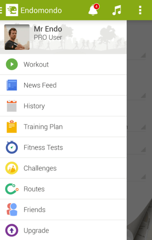 Android Endomondo Sports Tracker PRO Screen 10