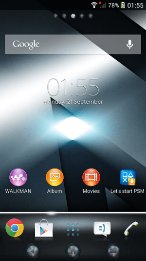 Android Xperia™ theme - Reality Screen 3