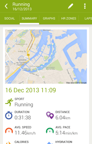 Android Endomondo Sports Tracker PRO Screen 3