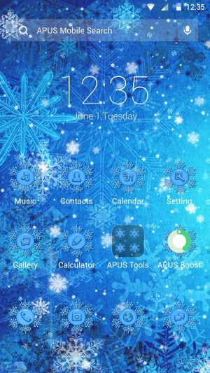 Android Frozen Theme Screen 2