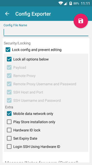 Android HTTP Injector Screen 2