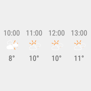 Android Transparent clock weather Pro Screen 2