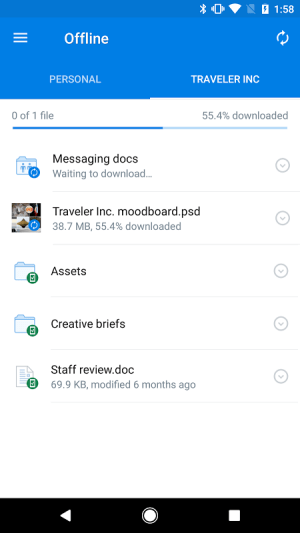 Android Dropbox Screen 16