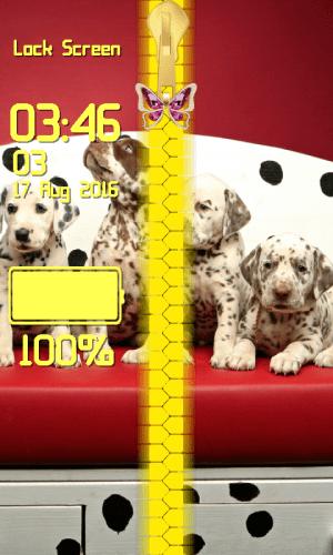 Android Puppy Zipper Lock Screen Screen 3