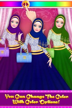 Android Hijab Fashion Doll Dress Up Screen 10