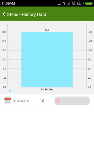 Android 4Free Pedometer Screen 1