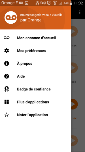 Android Messagerie vocale visuelle Screen 1