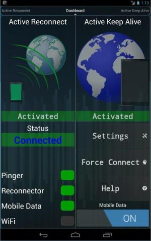 Connection Stabilizer Booster 1.2.1 Screen 1