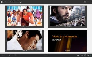 Android Programme TV d'Orange Screen 2