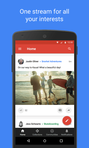Android Google+ Screen 3