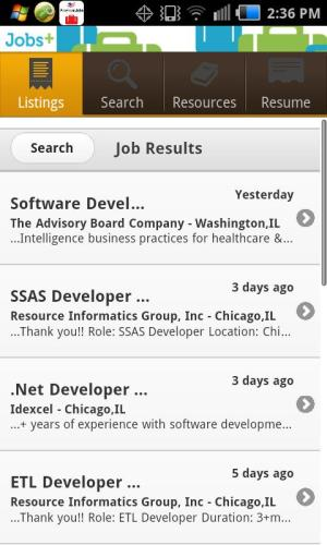 Android Jobs+ Screen 1