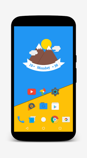 Android Nougat for Zooper Screen 6