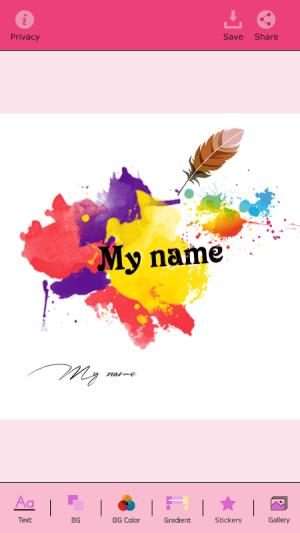 My Name Art Focus n Filter 1.4 Screen 3