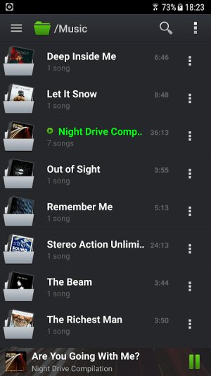 Android PlayerPro Music Player Screen 2