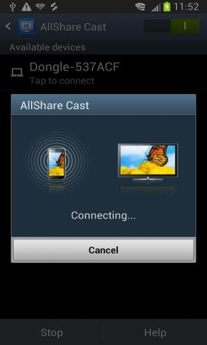 Android AllShareCast Dongle S/W Update Screen 2