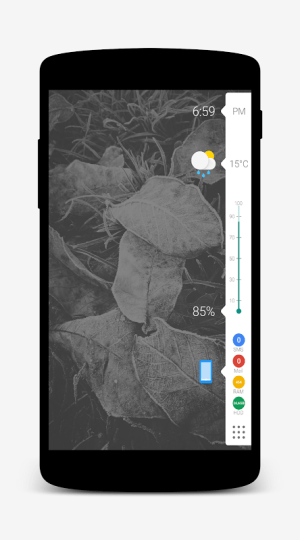 Android Nougat for Zooper Screen 1