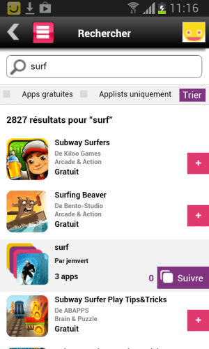 Android Sosh Apps Screen 2