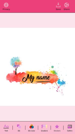 My Name Art Focus n Filter 1.4 Screen 4