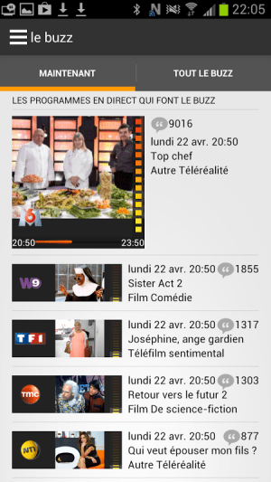 Android Programme TV d'Orange Screen 4