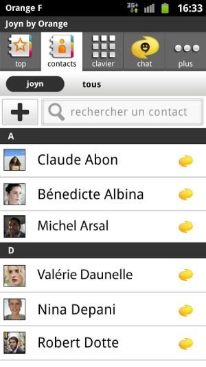 Android joyn by Orange Screen 6