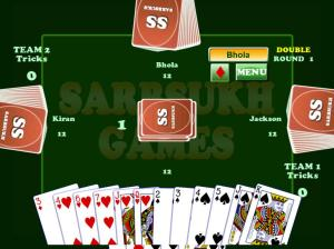 Android Card Game Coat : Court Piece Screen 1