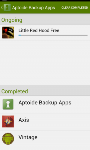 Android Aptoide Backup Apps Screen 5