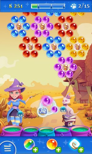 Android Bubble Witch 2 Saga Screen 12