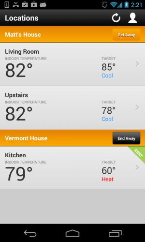 Android Thermostat Screen 4