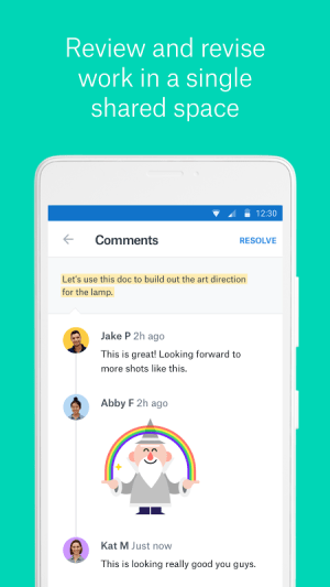 Android Dropbox Paper Screen 2