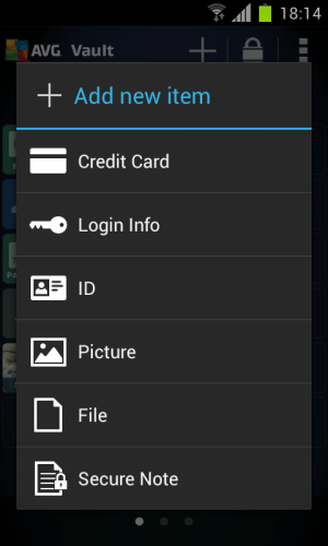 Android AVG Vault Screen 9