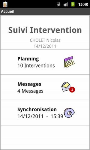 Android Suivi Intervention Screen 2